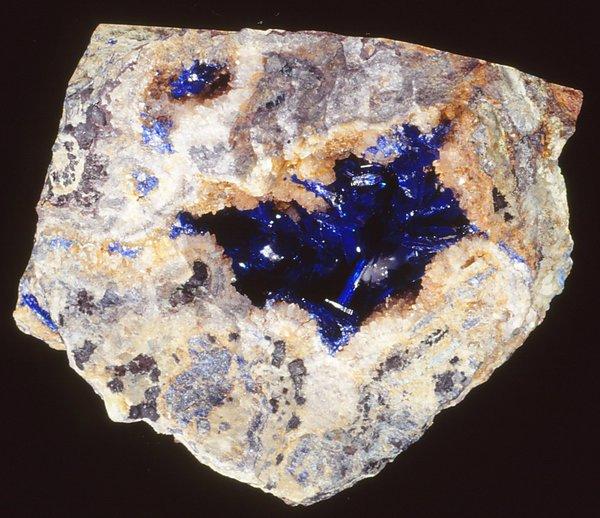 Linarite with quartz