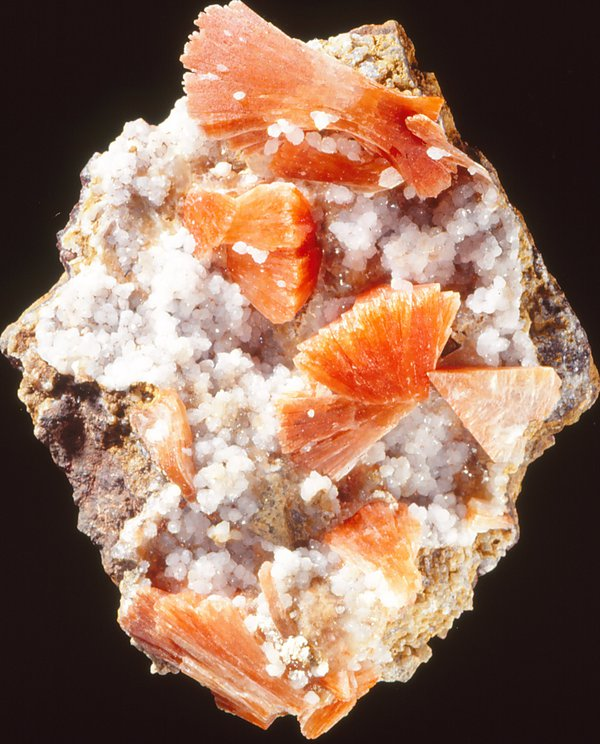 Heulandite with Quartz