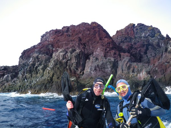 Mark McGrouther and Steve Ullrich at Kermadec Islands