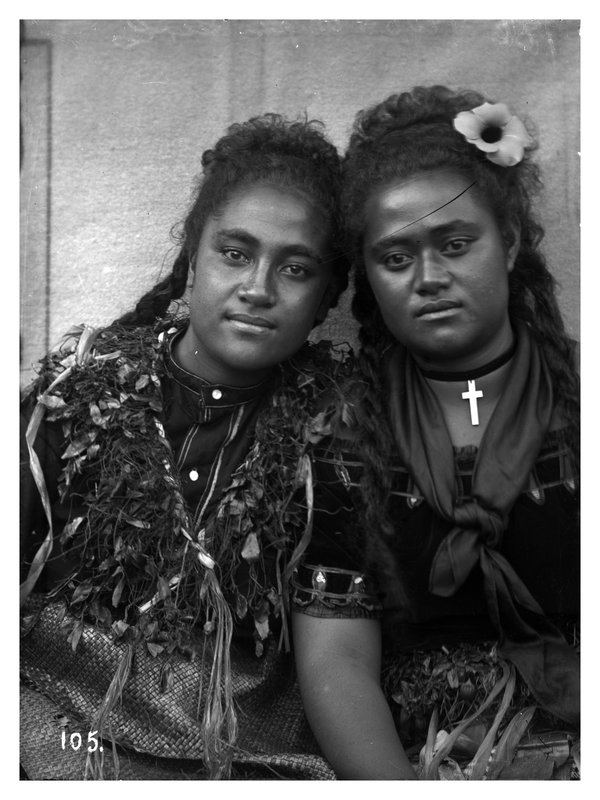 Two girls, Tonga
