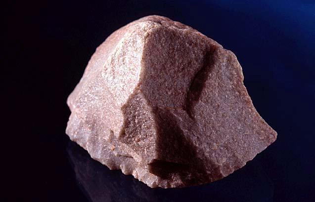 Horsehoof core stone tool