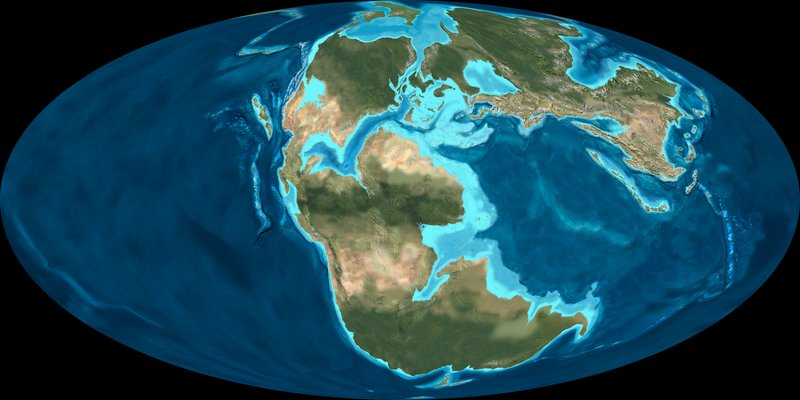Palaeo map late Cretaceous