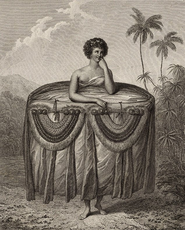 Tahitian taumi - gorgets in illustration by John Webber