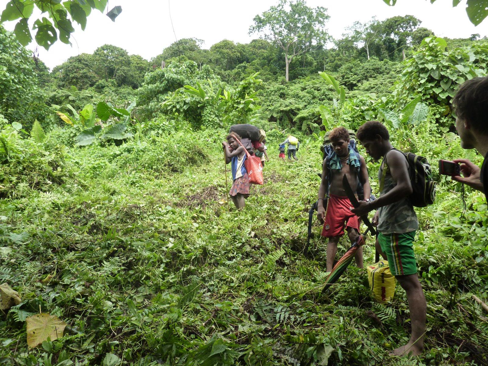 The steep climb up to Kwainaa'isi, Malaita.