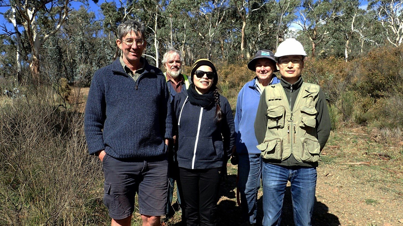 The team from field work in Mount Conobolas