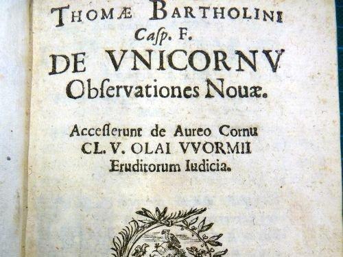 Title Page of De Unicornu (1645)