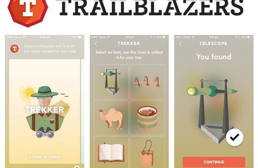 Trailblazers Kids App screengrabs.