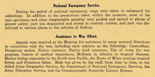 Summary report of the Trustees: 1941-46. Including information regarding National Emergency Service and Assistance to the War Effort.