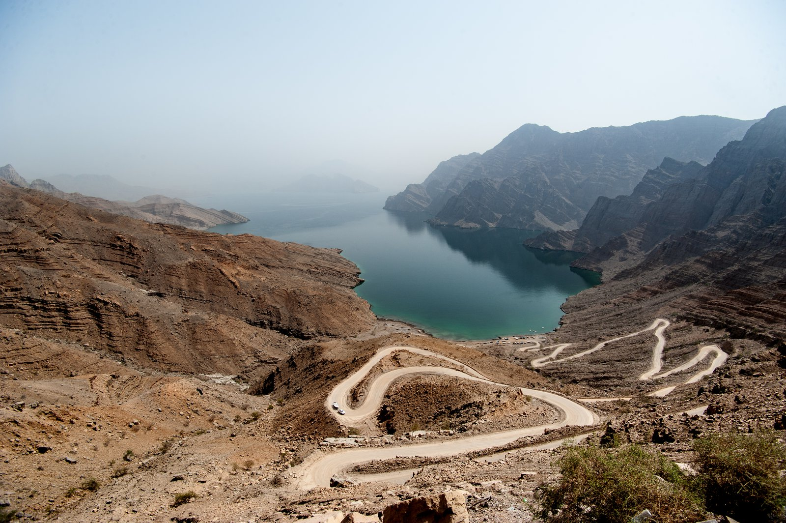 Winding road near Khasab, Oman