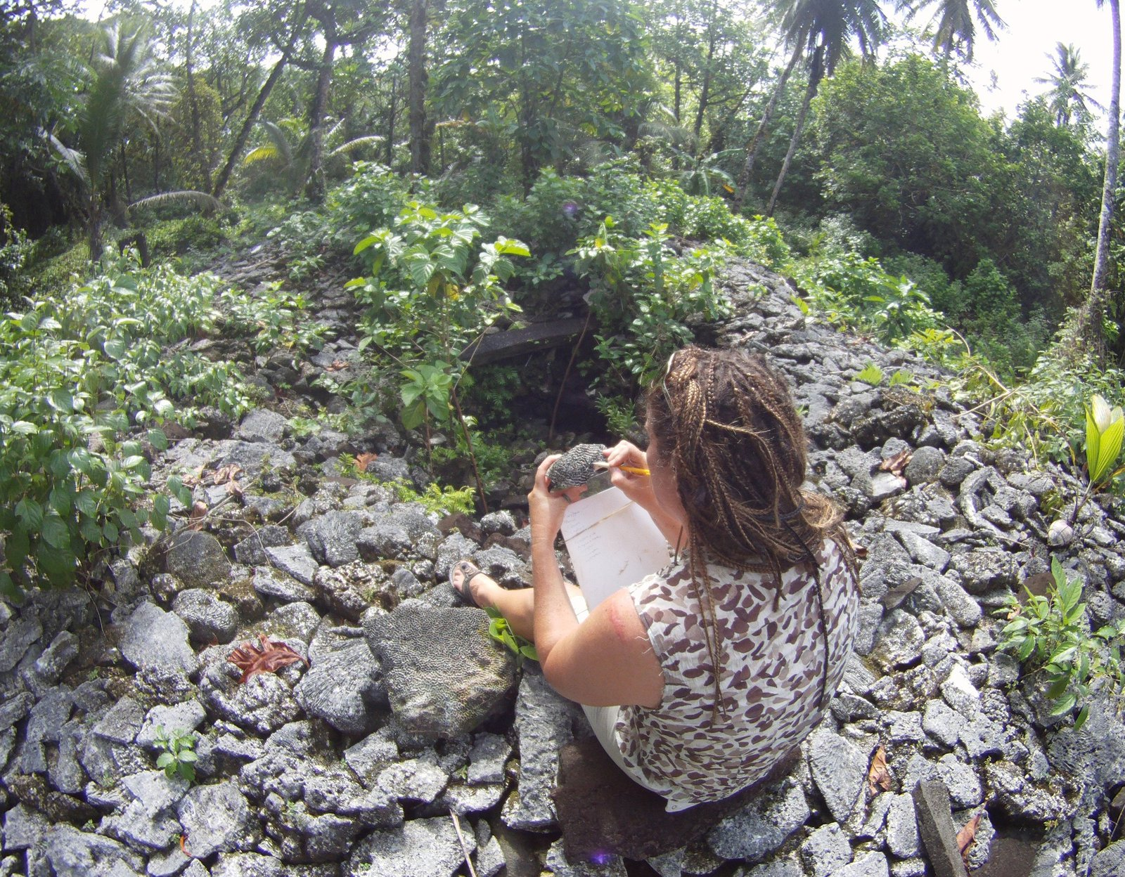 Zoe at Inaru Twin Tombs