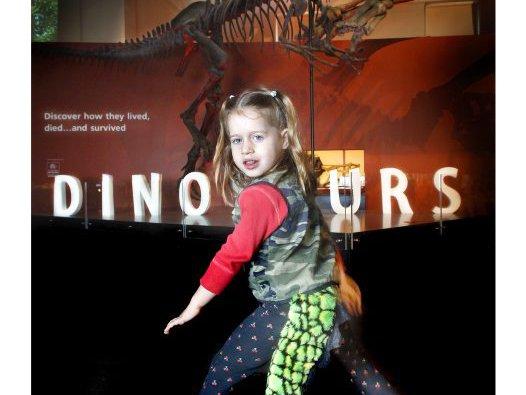 Roar like a dinosaur!