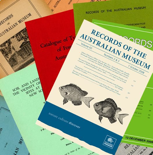 Records of the Australian Museum, a composite image.