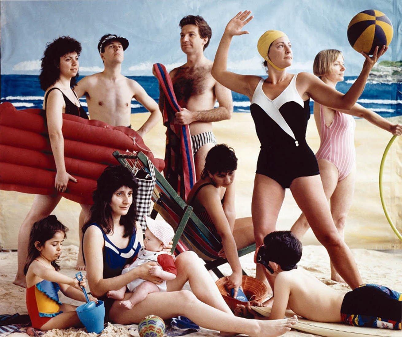 Anne Zahalka, The bathers, 1989