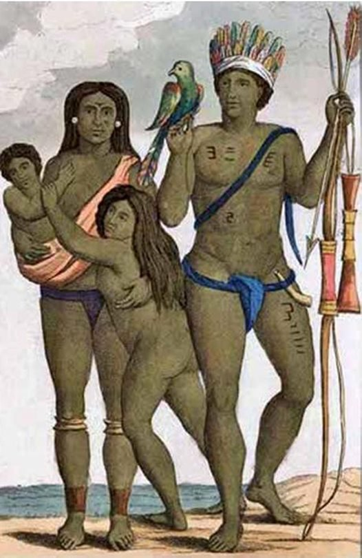 A family of Caribbean people - illustration by John Stedman.