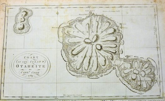 Chart of Tahiti from Cook's Voyages, 1784