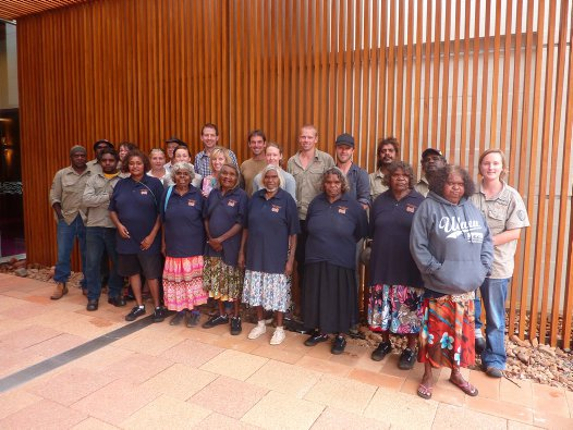 The Warru Recovery Team meeting at Yulara in 2013.