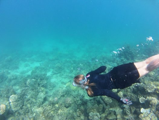 Snorkelling in French Polynesia