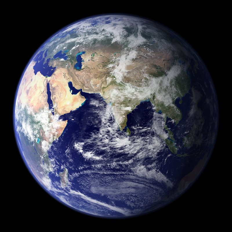 Earth photographed from space.