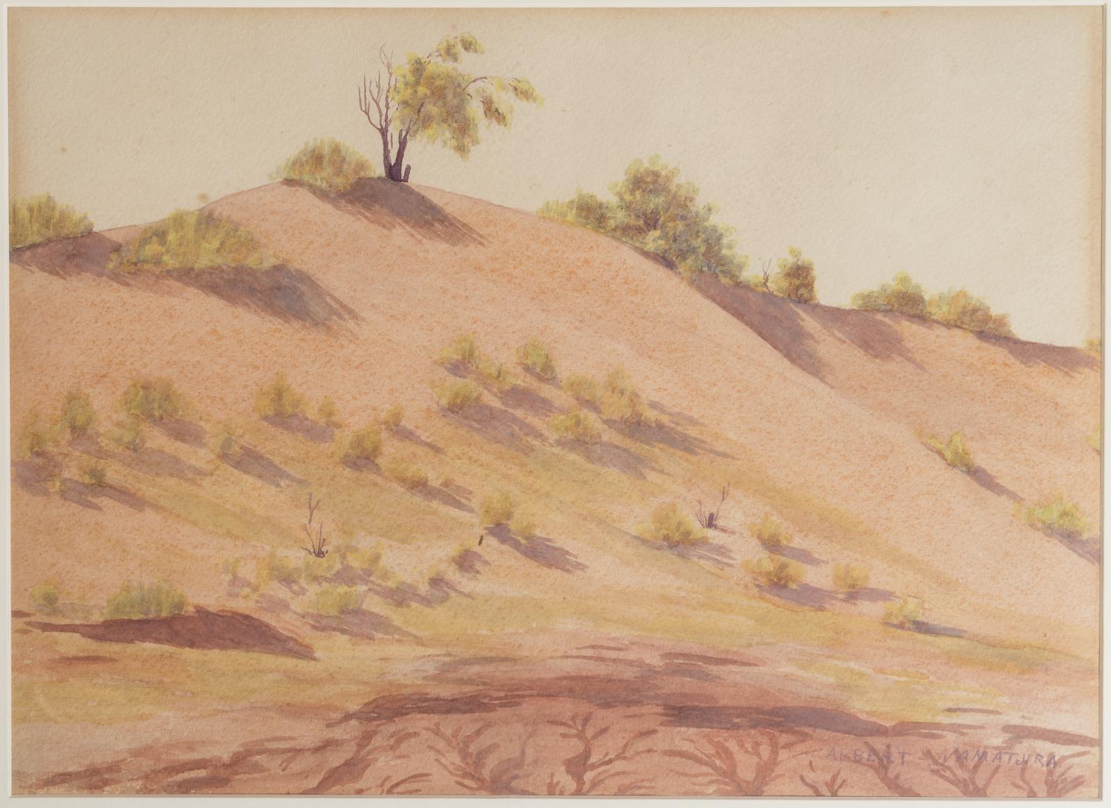 Watercolour painting by Albert Namitjira