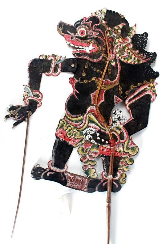 Raksasa - a demonic character from Javanese shadow theatre.