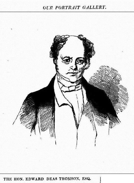 Cartoon of Edward Deas Thomson