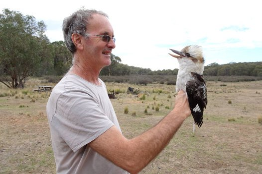 Richard Major with a Kookaburra