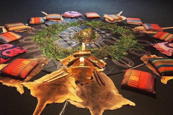 Aboriginal Meditation set-up