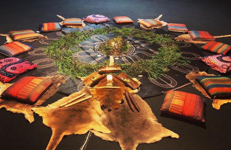 Aboriginal Meditation set-up