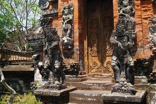 Gate of Merajan Suci, Bangli, Bali, Indonesia.