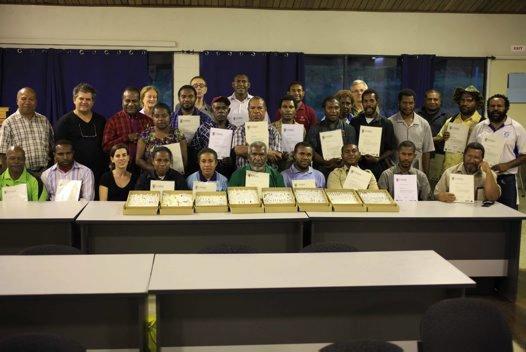 Participants in PNG Entomology course