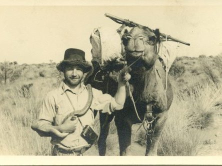 Harold Fletcher in the Simpson Desert